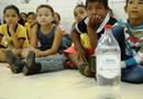 Atentas, crianças da rede municipal de ensino de Sucupira participaram das atividades do Educa Sanear
