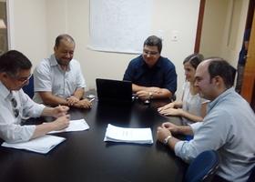 Engenheiro Sílvio Leão e servidores da Ageto na reunião  com  Gotran Thiago Tibery Lima Maluf da Concremat