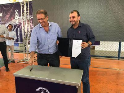 Presidente da ATS, Eder Fernades, acompanhou governador durante sua agenda de trabalho na cidade
