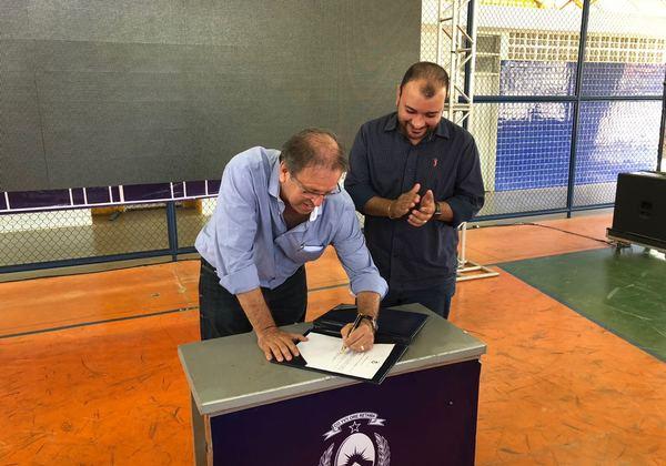 Governador assinou ordem de serviço nessa segunda-feira em Brejinho de Nazaré