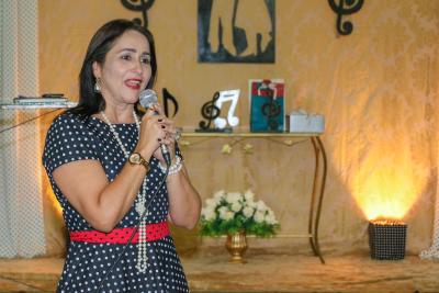 Secretária estadual do Trabalho e Assistência Social Patrícia do Amaral participou da festa