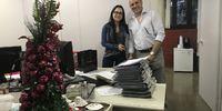 Árvore de Natal compartilhada pelo PGE Sérgio do Vale - 22/12/2017