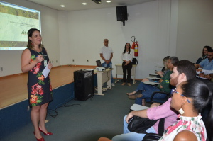 Diretora de Licenciamento Ambiental, em workshop do Sinaflor, ocorrido no Naturatins