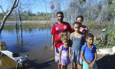 Aldemir Gonçalves comemorou com a família as ações do Governo para amenizar os efeitos da seca