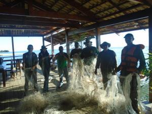 Operação da equipe do Naturatins da Base da Graciosa nos sentidos norte e sul do Lago de Palmas