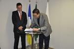 Secretário,Geferson Barros, assina Termo de Parceria  com a Defensoria Pública do Estado
