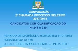 CONVOCAÇÃO 2ª CHAMADA PROCESSO SELETIVO - 2017-2018_300.jpg
