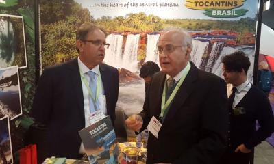 Marcelo Miranda também recebeu no estande do Tocantins o cônsul do Brasil na Holanda, Cezar Augusto De Souza Lima Amaral