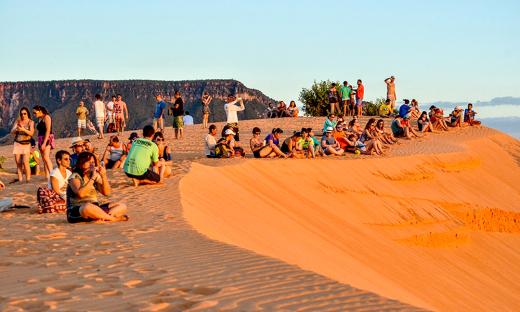 As dunas são uns dos principais pontos turísticos do Parque Estadual do Jalapão