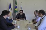 Reunião entre executivos do Banco do Brasil e o secretário de Administração, Geferson Barros