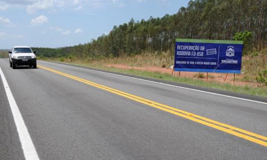 Rodovia TO-050 foi recuperada pelo Governo do Tocantins