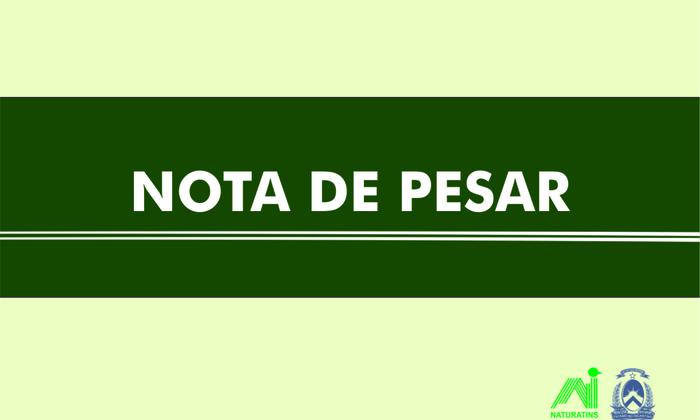 Nota de Pesar pelo falecimento de Elenita Mendonça Alves Sirqueira