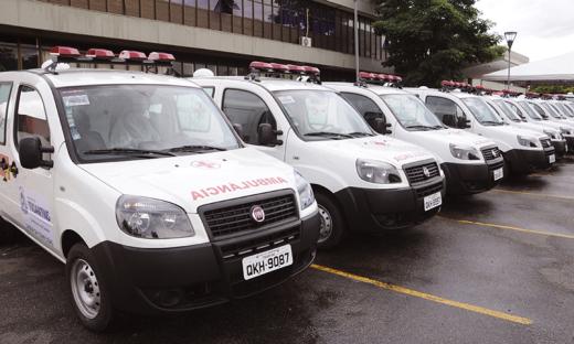 As ambulâncias foram adquiridas por meio de recursos de emenda parlamentar e do Projeto de Fortalecimento da Atenção Básica no Estado do Tocantins