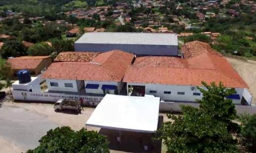 Imagem aérea das instalações do Colégio Militar de Arraias inaugurado pelo governador Marcelo Miranda no ano passado