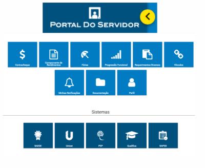 O novo Portal do Servidor pode ser acessado através de dispositivos móveis, como smartphones e tablets