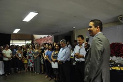 Secretário recebeu homenagem de servidores na sede da Pasta