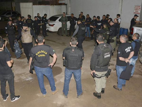 Operação contou com 120 policiais civis que cumpriram 34 mandados de prisão, busca e apreensão nos municípios de Palmas, Porto Nacional, Formoso do Araguaia e Dueré