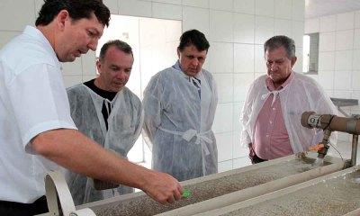 No grupo Aquaporto/Aquamérica, em Niquelândia (GO), a comitiva do Tocantins conheceu o processo de criação, desde a produção dos alevinos da tilápia