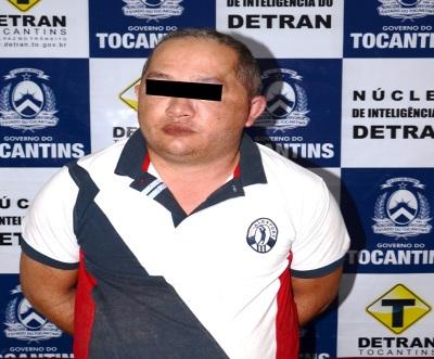 Integrante de quadrilha foi detido pelo Serviço de Inteligência do Detran/TO