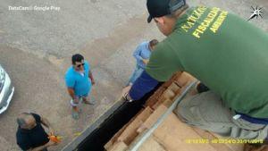 Momento da vistoria e aferição da madeira no município de Paraíso do Tocantins