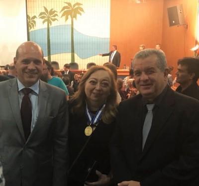 PGE Sergio do Vale com os procuradores aposentados Rosanna Medeiros e Télio Leão, secretário chefe da Casa Civil/TO