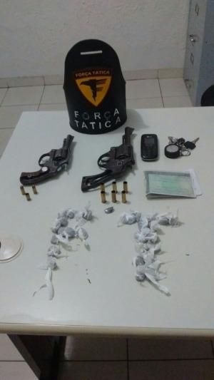 Armas, munições e drogas apreendidas pela PM em Cristalândia_300.jpg