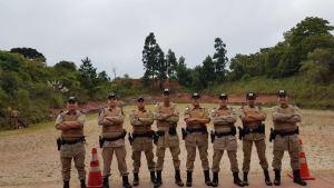 Policiais militares do Tocantins em instrução de tiro em Curitiba_300.jpg