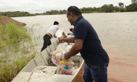 Mais de 40 cestas básicas foram entregues ao povo Javaé
