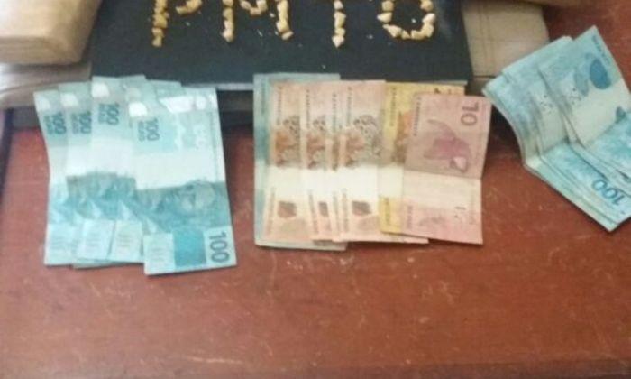 Drogas e dinheiro apreendidos em Abreulândia