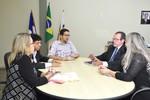 A reunião ocorreu no gabinete do Secretário Geferson Barros