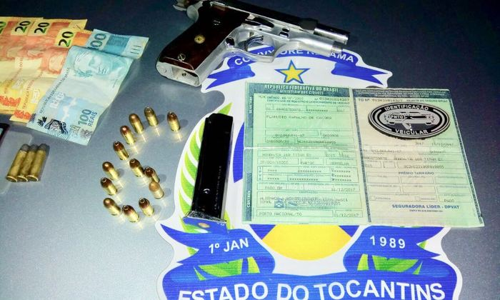Homem foi preso portando arma de fogo na região Sul de Palmas