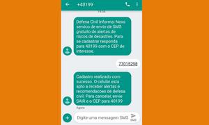 Entre as medidas tomadas para auxiliar os municípios está o alerta de desastres naturais via SMS