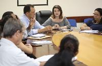 Comissão discute a interação dos alunos na feira Agrotecnológica