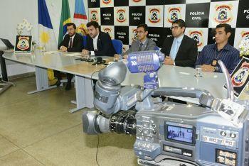 Em coletiva, Policia Civil apresenta resultado da 1º Fase da Operação Espectro