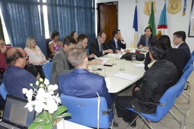 Membros do Conselho Gestor do FUMPOL-TO reunidos na 4ª Reunião do órgão
