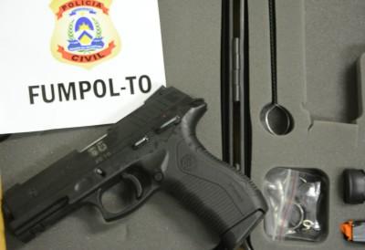 Arma PT840 entregue pelo FUMPOL-TO aos policiais civis