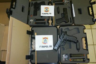 Armas de fogo recebidas e distribuídas pelo FUMPOL-TO aos policiais civis