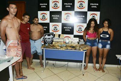 Cinco suspeitos por tráfico de drogas são presos pela Denarc em Palmas