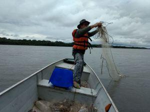 Equipes do Naturatins apreendem 4.600 metros de redes durante a Piracema_ER-Naturatins Pedro Afonso (2)_300.jpg