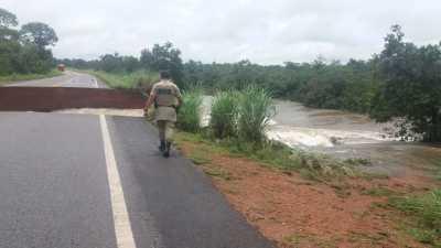 TO-080 não suportou volume de águas das fortes chuvas que caíram na região oeste do estado