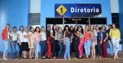 Algumas das dezenas de mulheres especiais que trabalham no órgão de trânsito do Estado