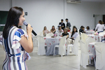 Secretária Patrícia do Amaral e convidados durante chá para as mulheres em Gurupi