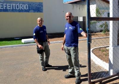 Socioeducadores durante expediente de trabalho no Case Palmas