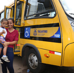 Para os pais, o veículo adaptado representa a tranquilidade com o transporte dos filhos até a escola