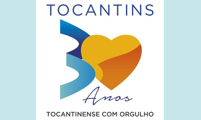 O Selo dos 30 anos do Tocantins é uma referência às riquezas hídricas do Estado, ao potencial produtivo de suas terras férteis e das riquezas culturais e ecoturísticas