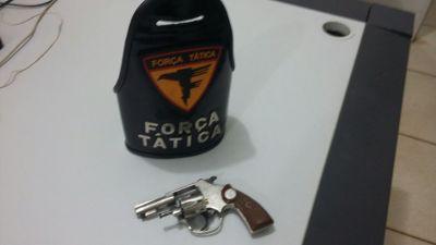 Arma apreendida pela PM em Palmas.