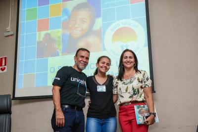– Na foto: Antônio Cabral, Sofia Pinto e Patrícia do Amaral