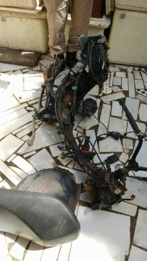 Quadro da motocicleta recuperada em Araguaína.png