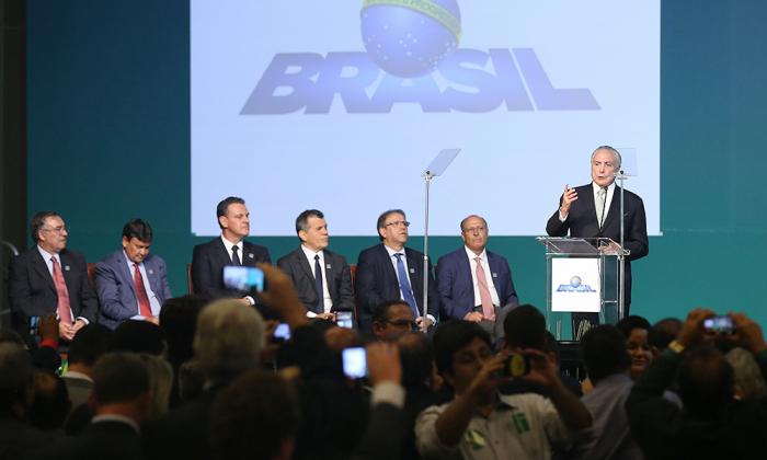 O governador Marcelo Miranda prestigiou o evento, no qual os prefeitos assinaram o termo de adesão ao Programaque levará Internet de baixo custo a lugares sem conectividade