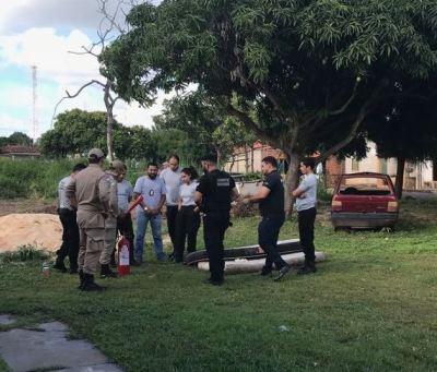 Agentes da Cadeia Pública de Araguatins  no curso de combate a incêndio e primeiros socorros